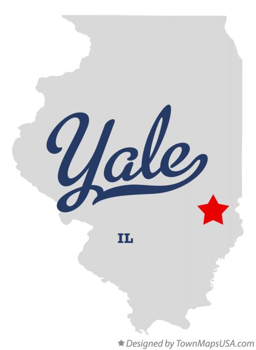 Map of Yale Illinois IL
