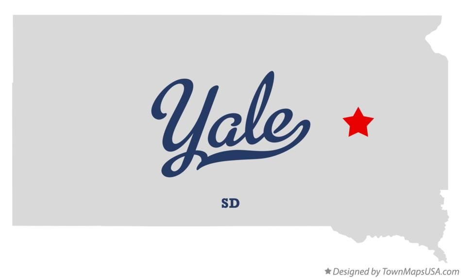 Map of Yale South Dakota SD