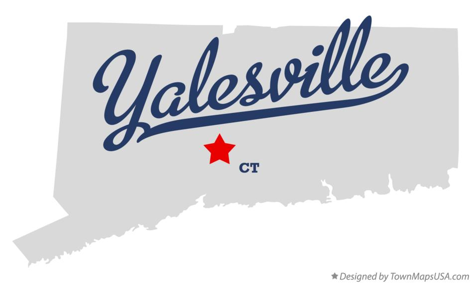 Map of Yalesville Connecticut CT