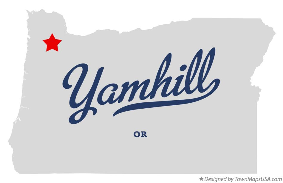 Map of Yamhill Oregon OR