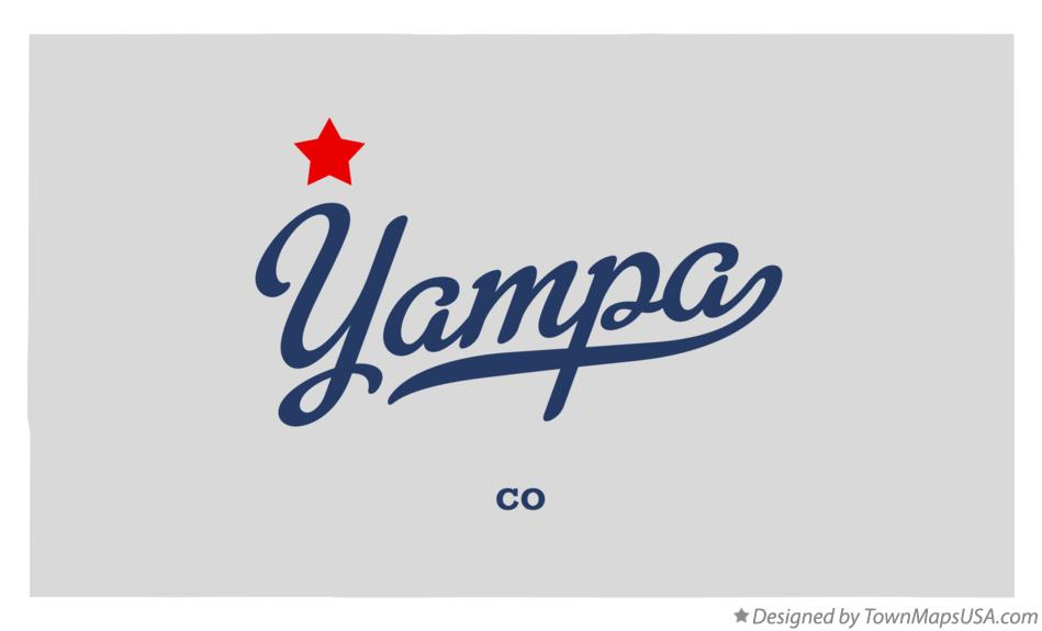 Map of Yampa Colorado CO