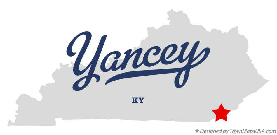 Map of Yancey Kentucky KY