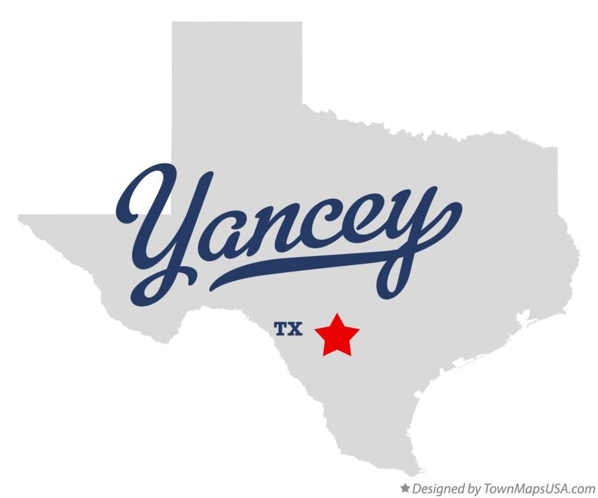 Map of Yancey Texas TX