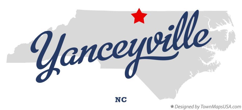 Map of Yanceyville, NC, North Carolina