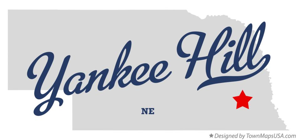 Map of Yankee Hill Nebraska NE