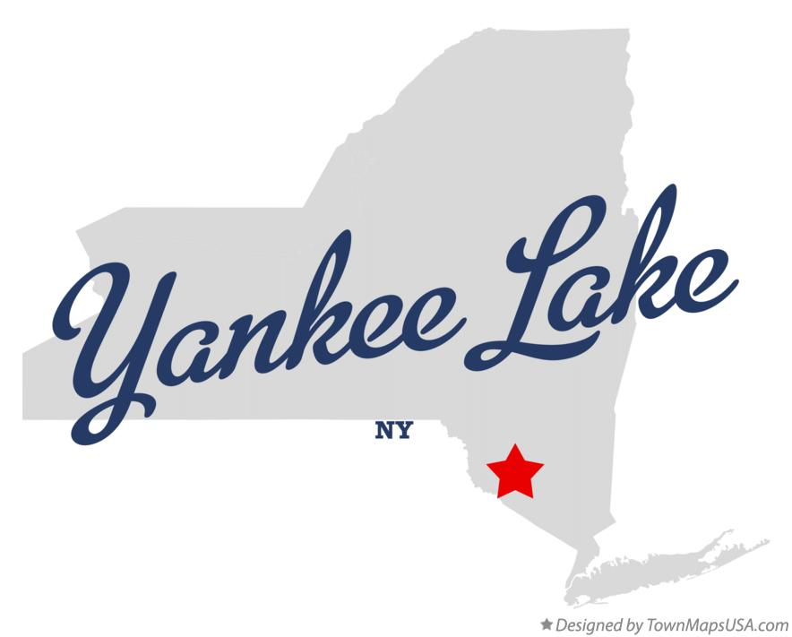 Map of Yankee Lake New York NY