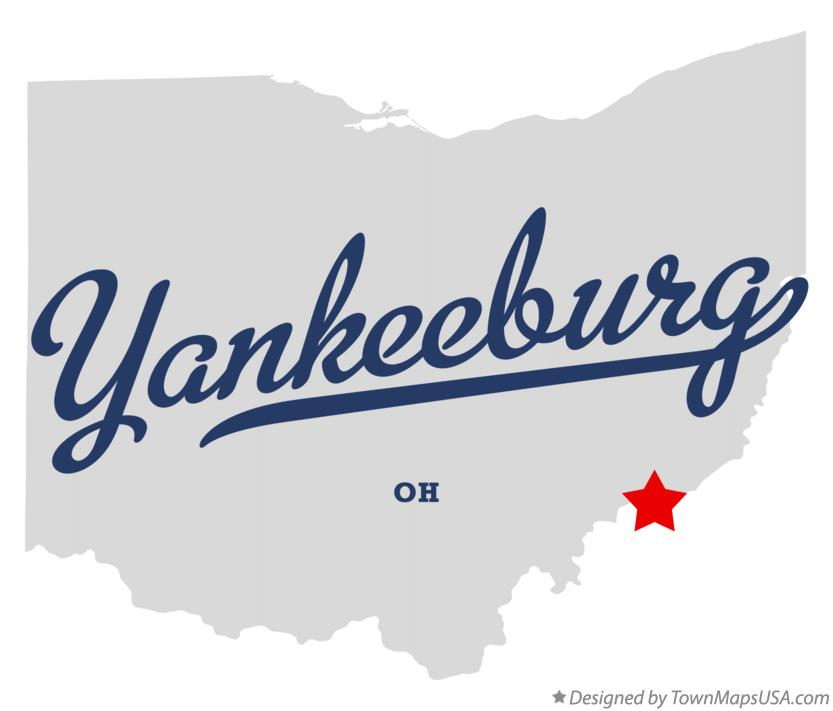 Map of Yankeeburg Ohio OH