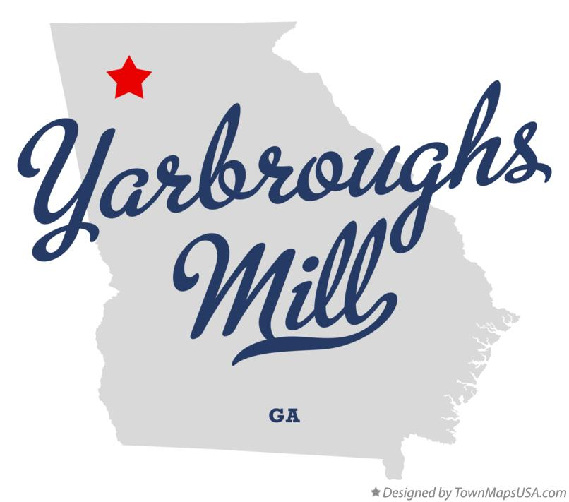 Map of Yarbroughs Mill Georgia GA