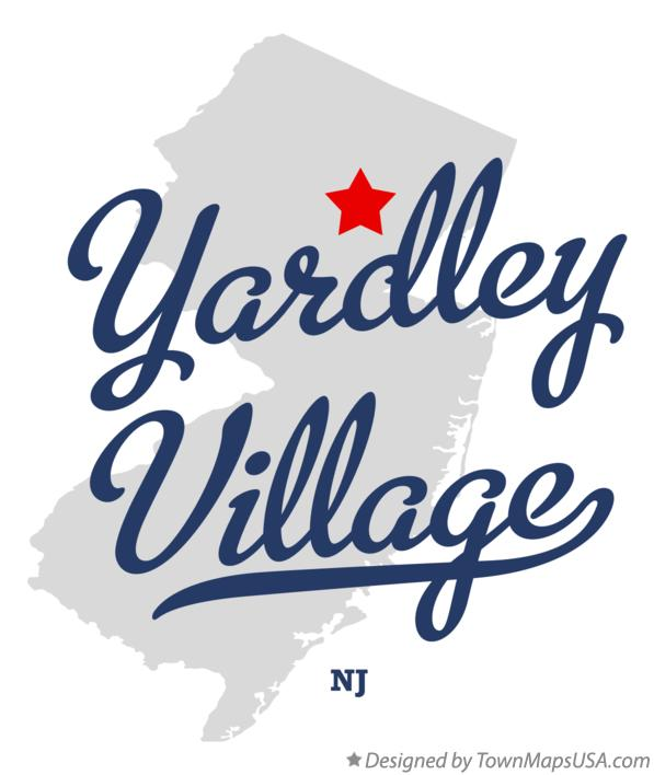 Map of Yardley Village New Jersey NJ