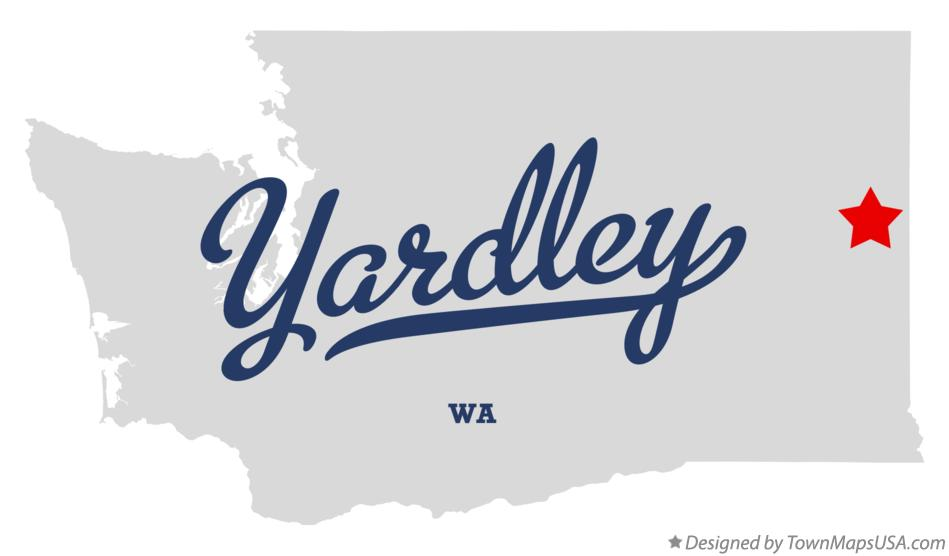 Map of Yardley Washington WA