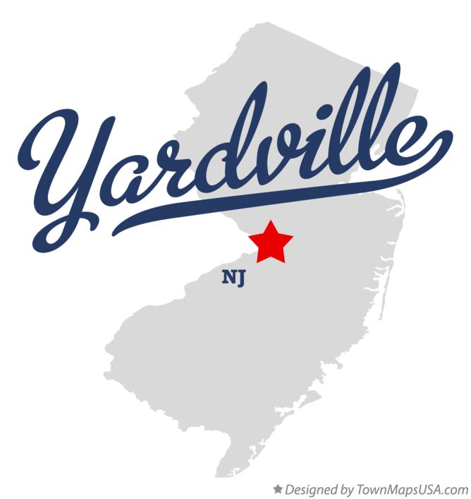 Map of Yardville New Jersey NJ