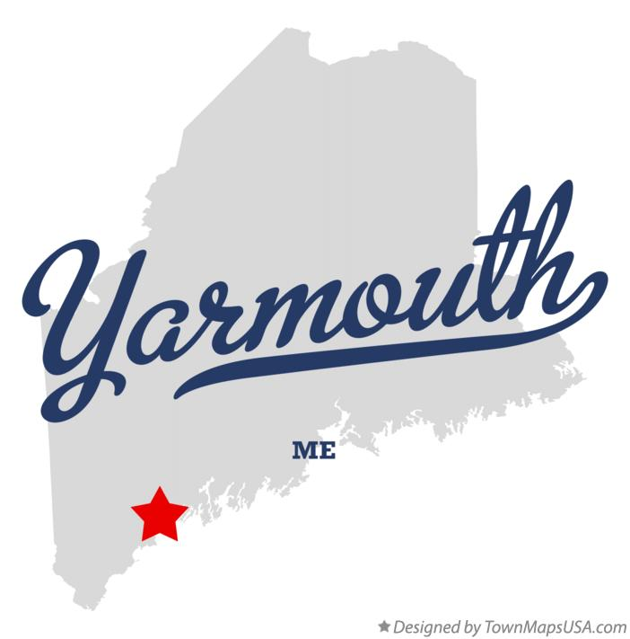 Map of Yarmouth Maine ME