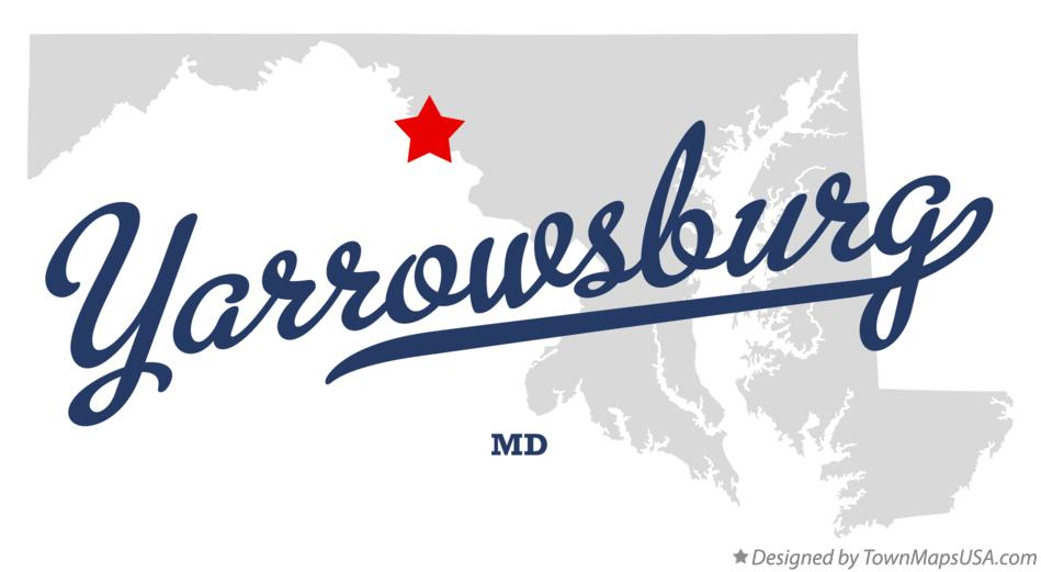 Map of Yarrowsburg Maryland MD