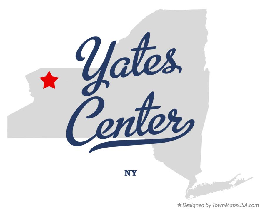 Map of Yates Center New York NY