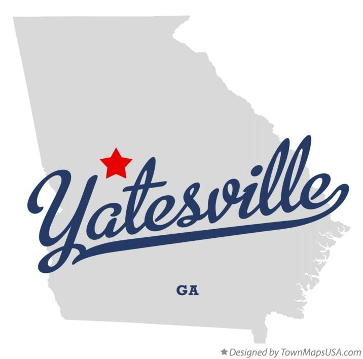 Map of Yatesville Georgia GA