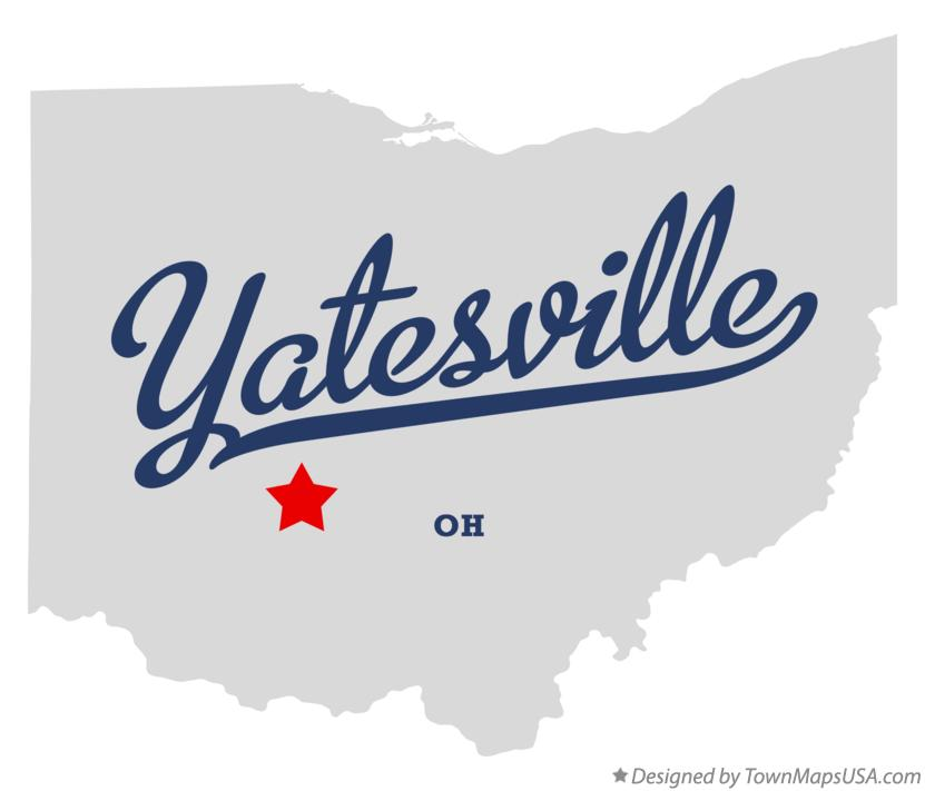 Map of Yatesville Ohio OH