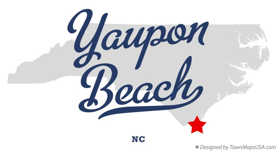 Map of Yaupon Beach North Carolina NC