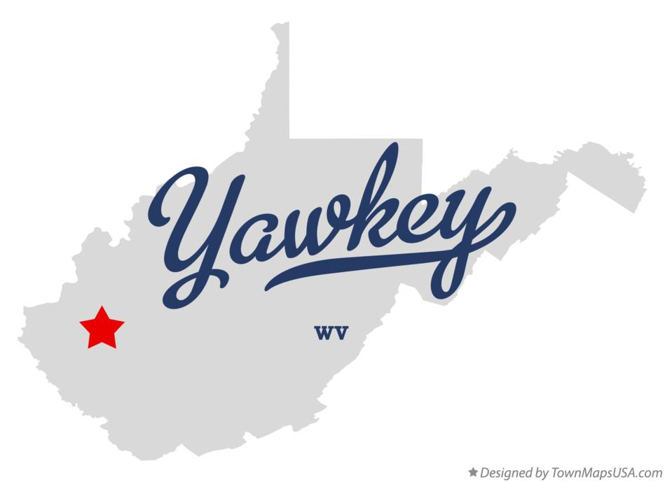 Map of Yawkey West Virginia WV