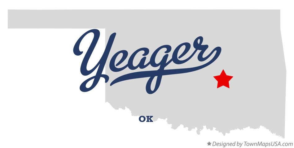 Map of Yeager Oklahoma OK
