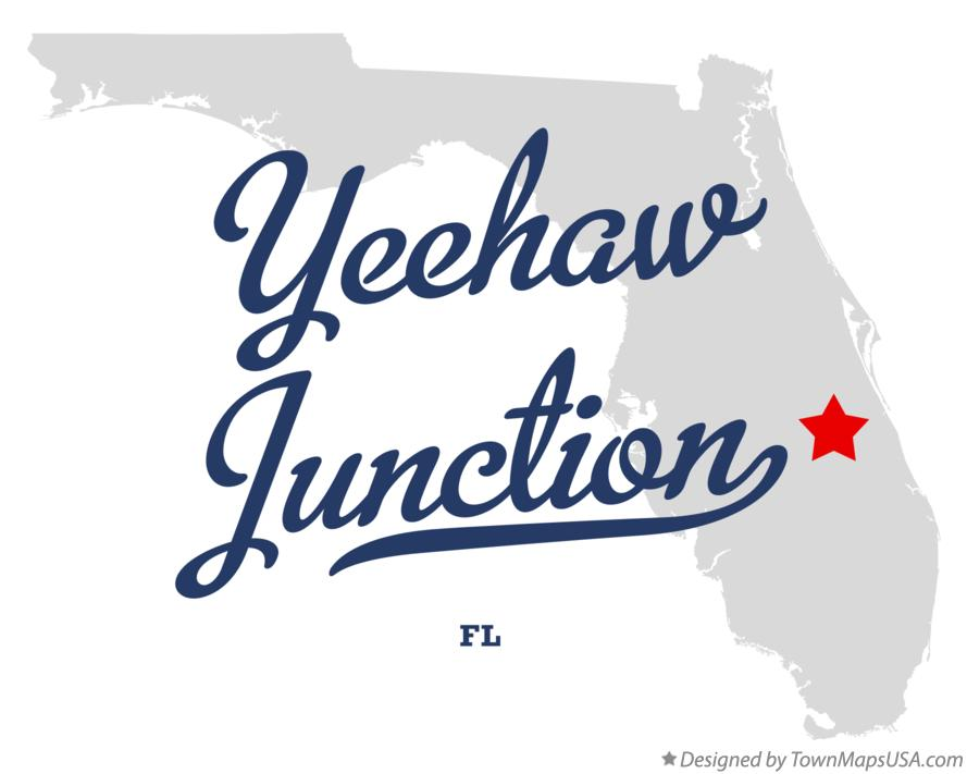 Map of Yeehaw Junction Florida FL