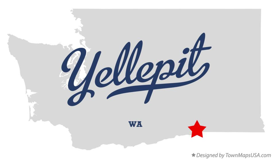 Map of Yellepit Washington WA
