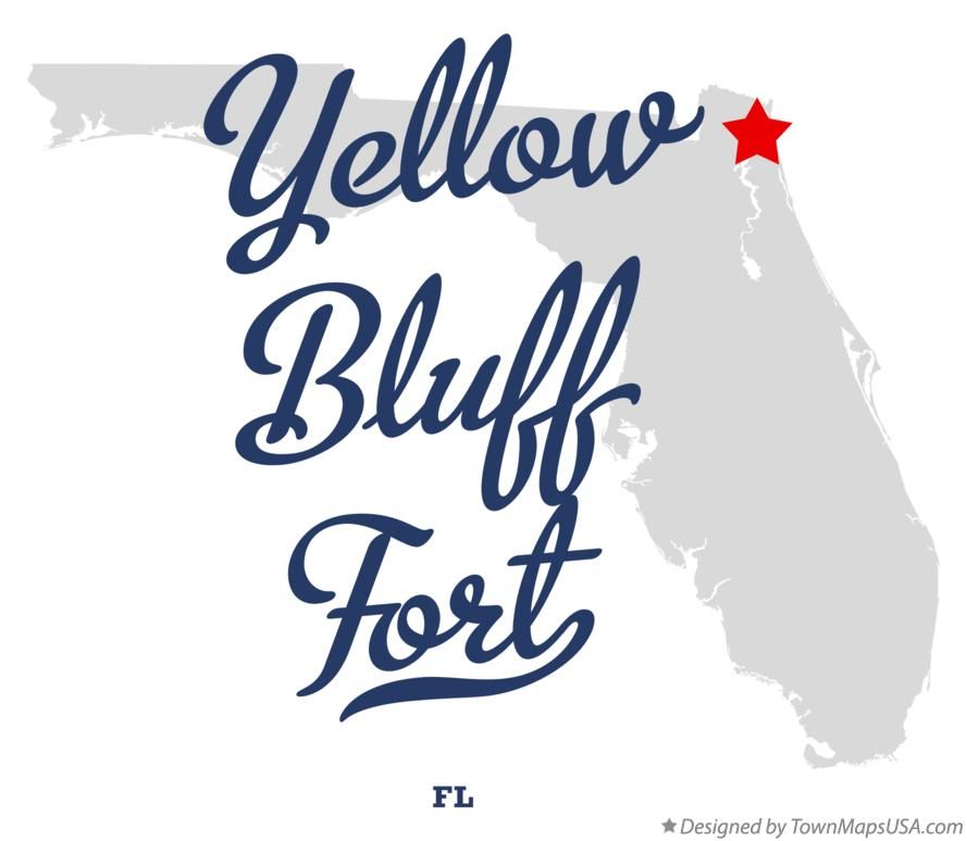 Map of Yellow Bluff Fort Florida FL