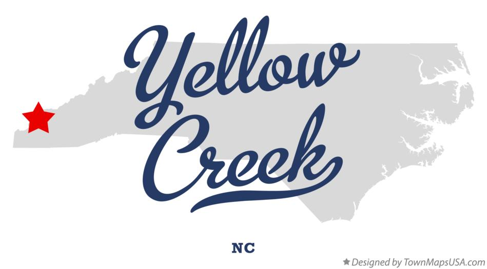 Map of Yellow Creek North Carolina NC