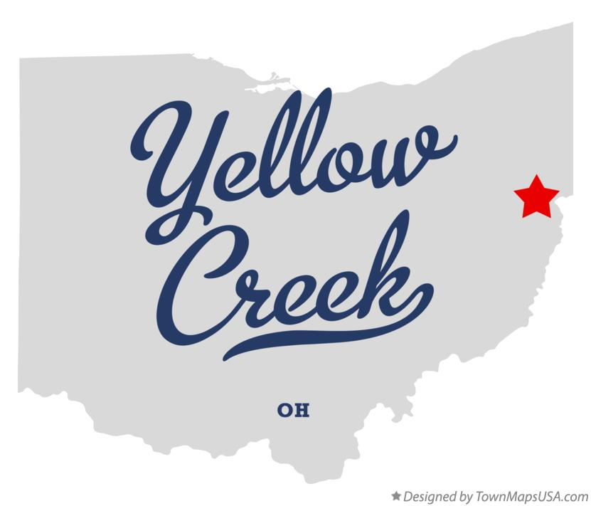 Map of Yellow Creek Ohio OH
