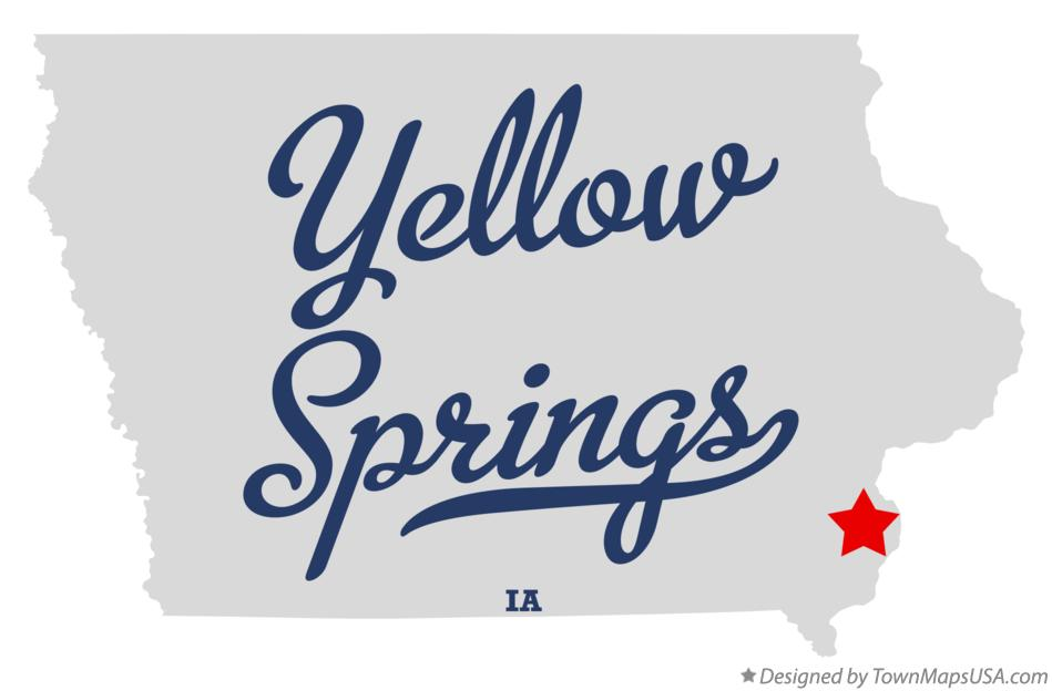 Map of Yellow Springs Iowa IA