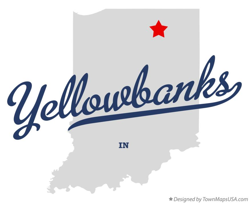 Map of Yellowbanks Indiana IN