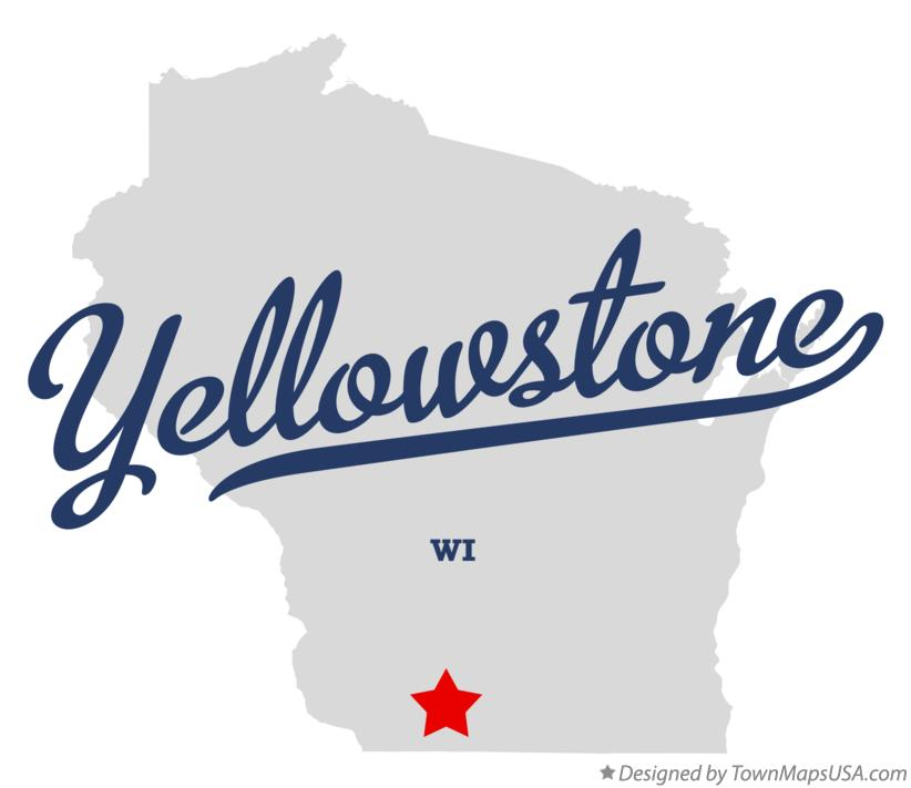 Map of Yellowstone Wisconsin WI