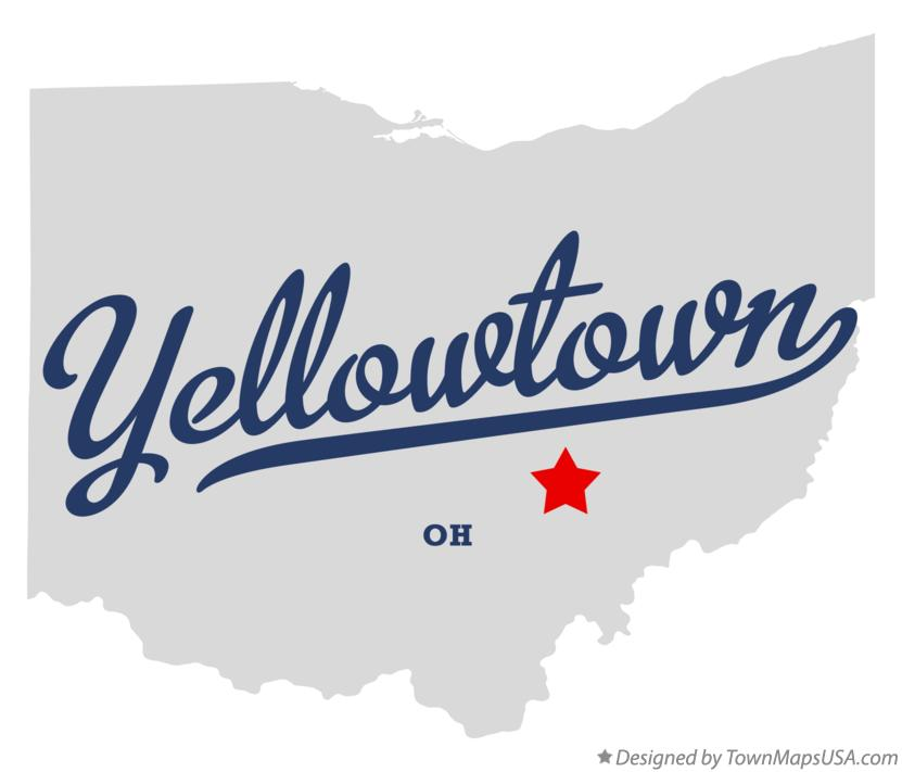 Map of Yellowtown Ohio OH
