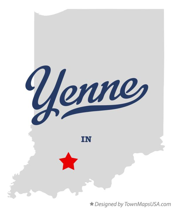 Map of Yenne Indiana IN