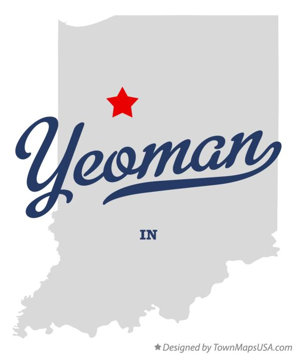 Map of Yeoman Indiana IN