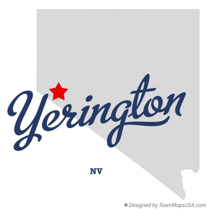 Map of Yerington Nevada NV