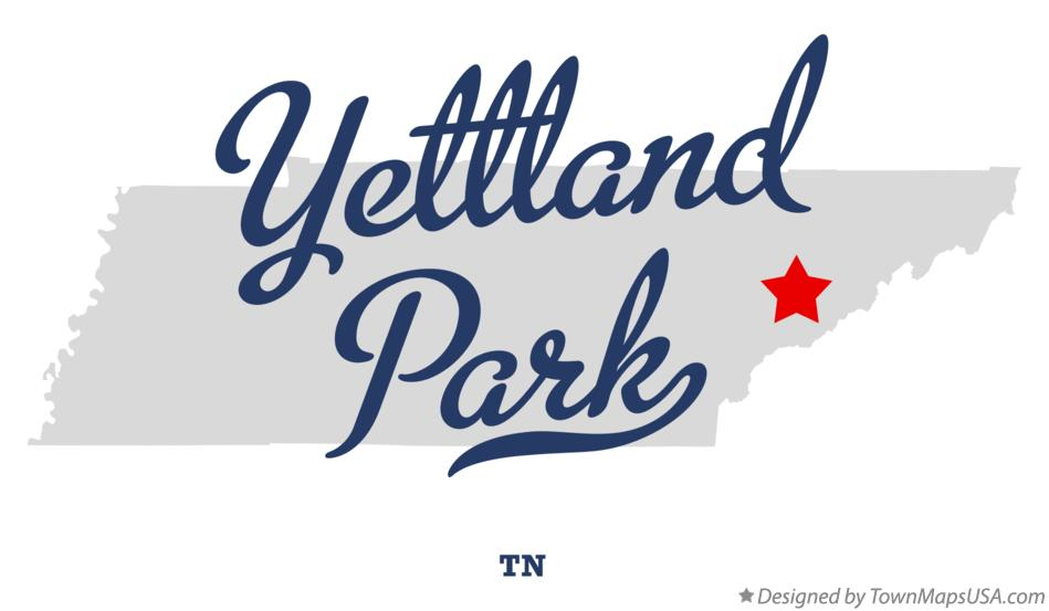 Map of Yettland Park Tennessee TN