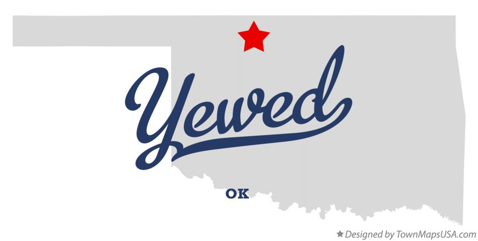 Map of Yewed Oklahoma OK