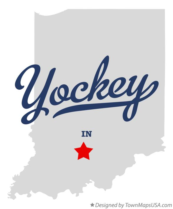 Map of Yockey Indiana IN