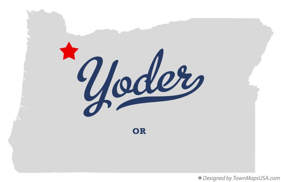Map of Yoder Oregon OR