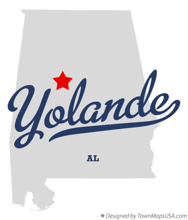 Map of Yolande Alabama AL