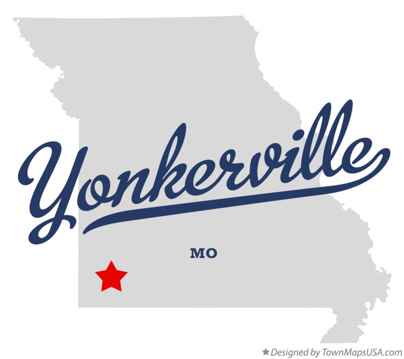 Map of Yonkerville Missouri MO