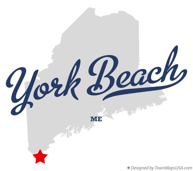 Map Of York Beach Me Maine