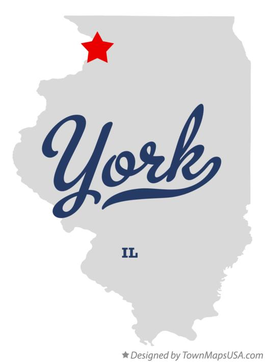 Map of York Illinois IL