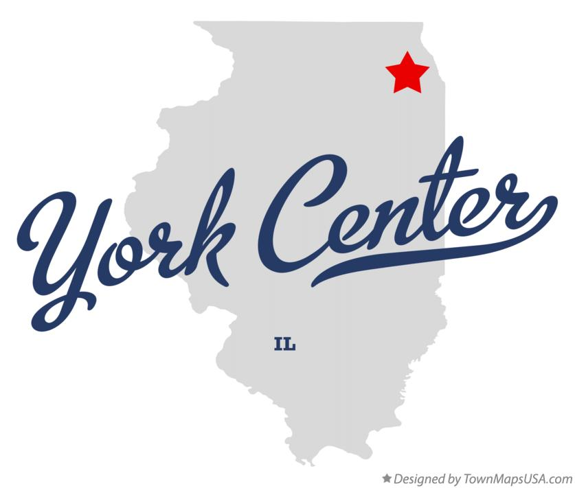 Map of York Center Illinois IL