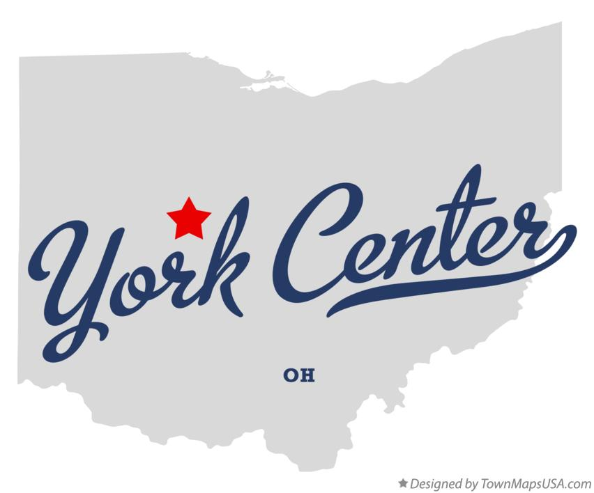 Map of York Center Ohio OH