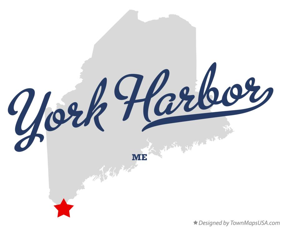 Map of York Harbor Maine ME