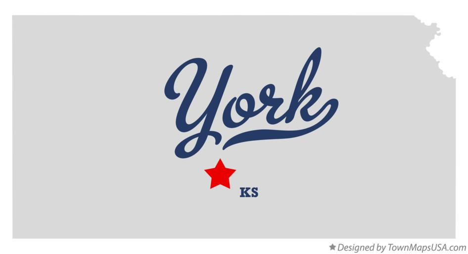 Map of York Kansas KS