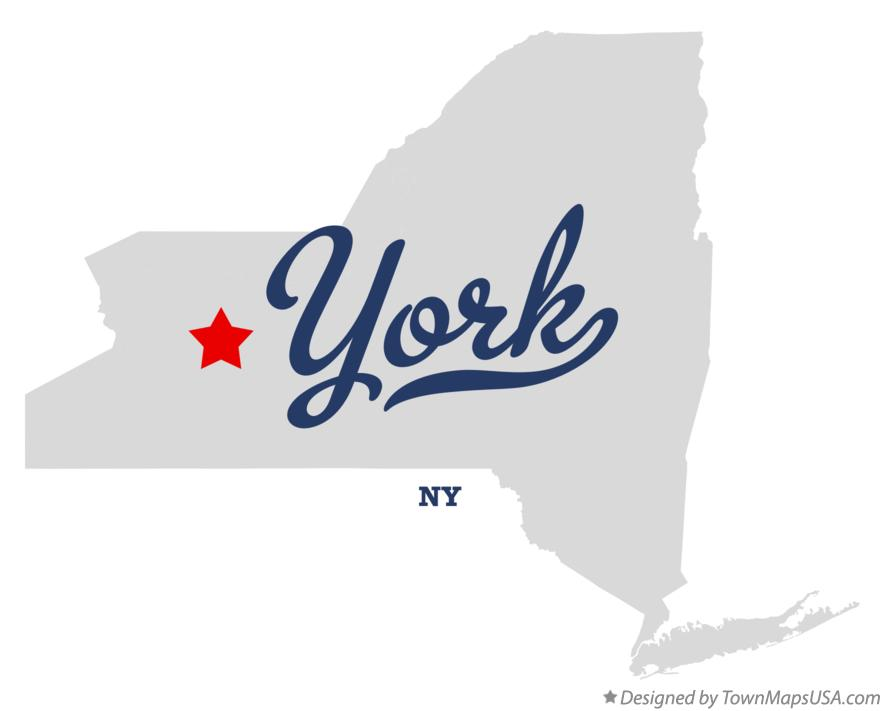 Map of York New York NY