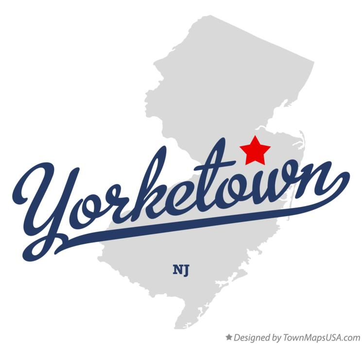 Map of Yorketown New Jersey NJ