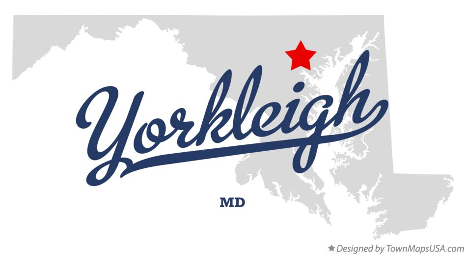 Map of Yorkleigh Maryland MD